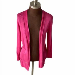 Christopher and Banks Pink Open Cardigan Sweater S